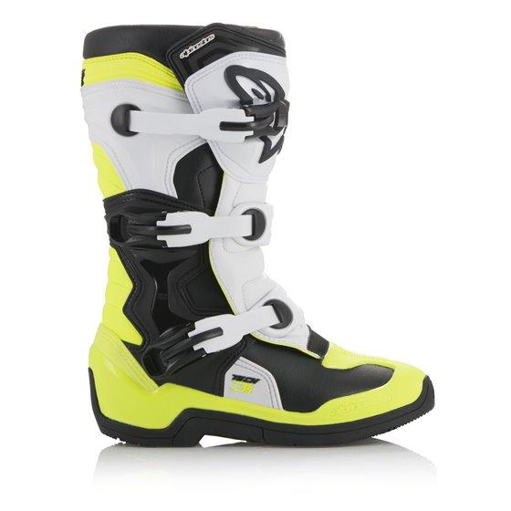 Alpinestars Boot Tech 3s JuniorBlack/White/Flou Yellow 34
