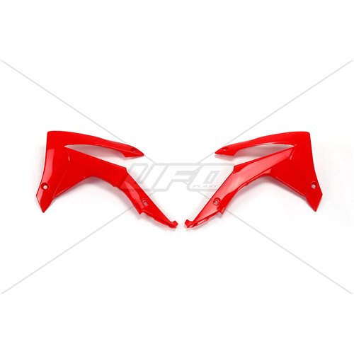 UFO Radiator cover CRF250 14-17,CRF450 13-16 Red 070