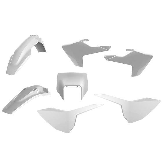 Polisport kit w/ mask Husqvarna TE/FE(17) white