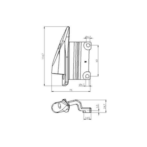 Puig Right Adapter Back Mirror Hi-Tech I,Ii,Iii,Gt,F1