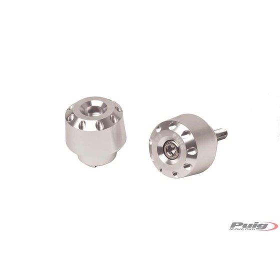 Puig Bar End Aluminum Short Bmw/Suzuki C/Silver