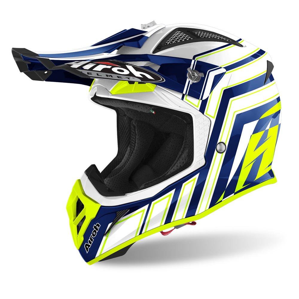 Airoh Helmet Aviator Ace ART yellow/blue S