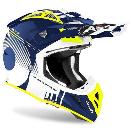 Airoh Helmet Aviator Ace Nemesi blue gloss XL