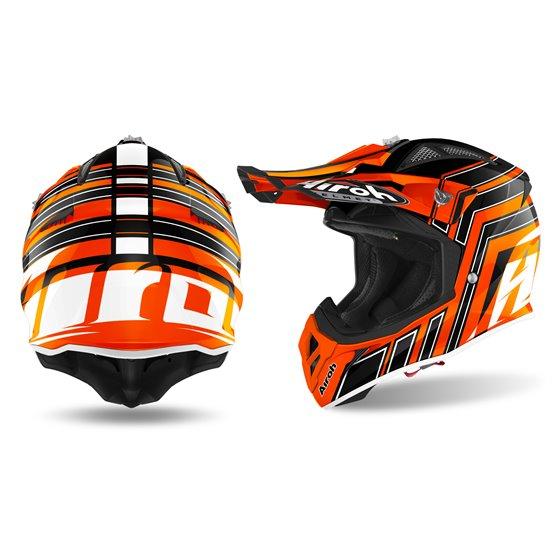 Airoh Helmet Aviator Ace ART orange XS