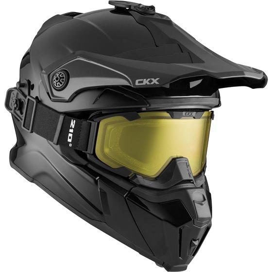 CKX Helmet Titan Solid matt black with goggle 3XL