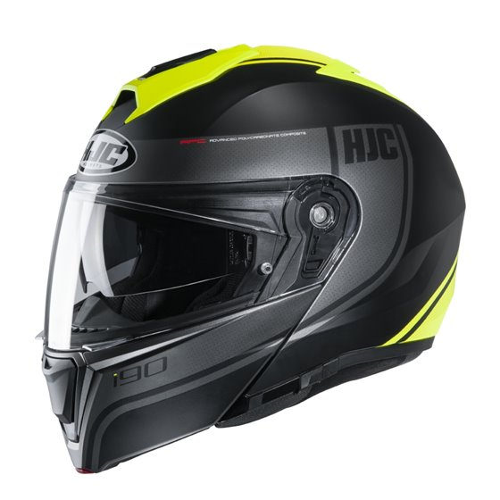 HJC Helmet I90 Davan Yellow MC4HSF S 55-56cm