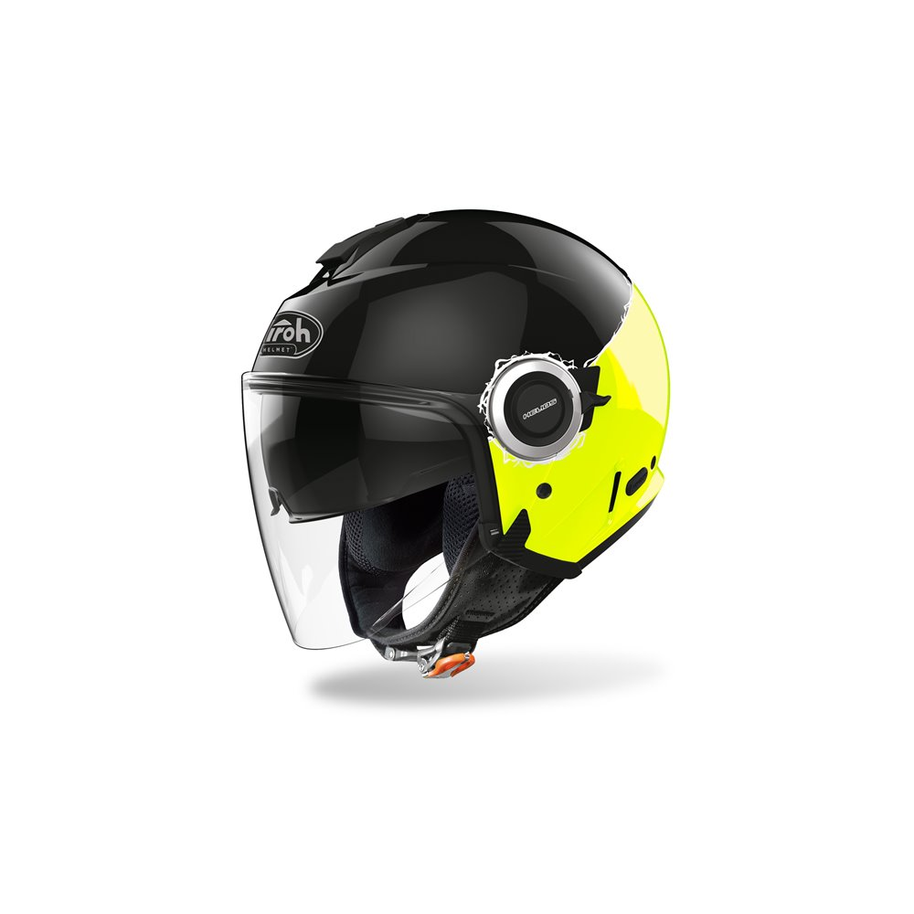 Airoh Helmet Helios Fluo yellow gloss M