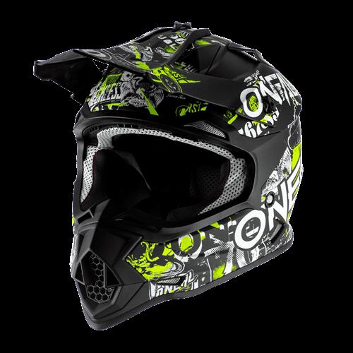 ONeal Helmet 2-serie Junior Attack Black/Yellow Fluo S (47/48cm)