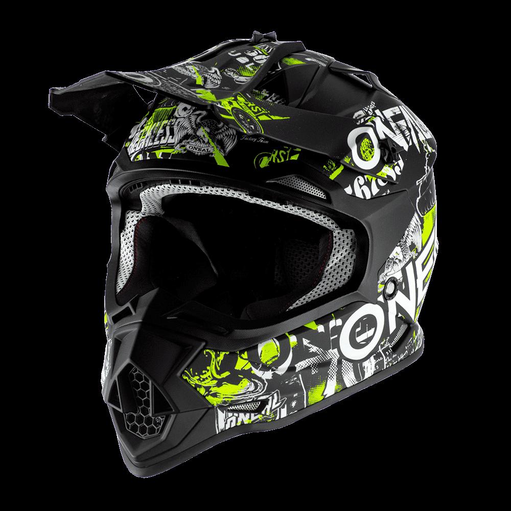 ONeal Helmet 2-serie Junior Attack Black/Yellow Fluo M (49/50cm)