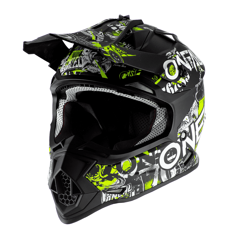 ONeal Helmet 2-serie Junior Attack Black/Yellow Fluo L (51/52cm)