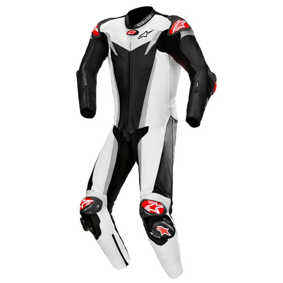 Alpinestars Leather suit GP TECH v3 TECH AIR Comp Black/White/Silver 58