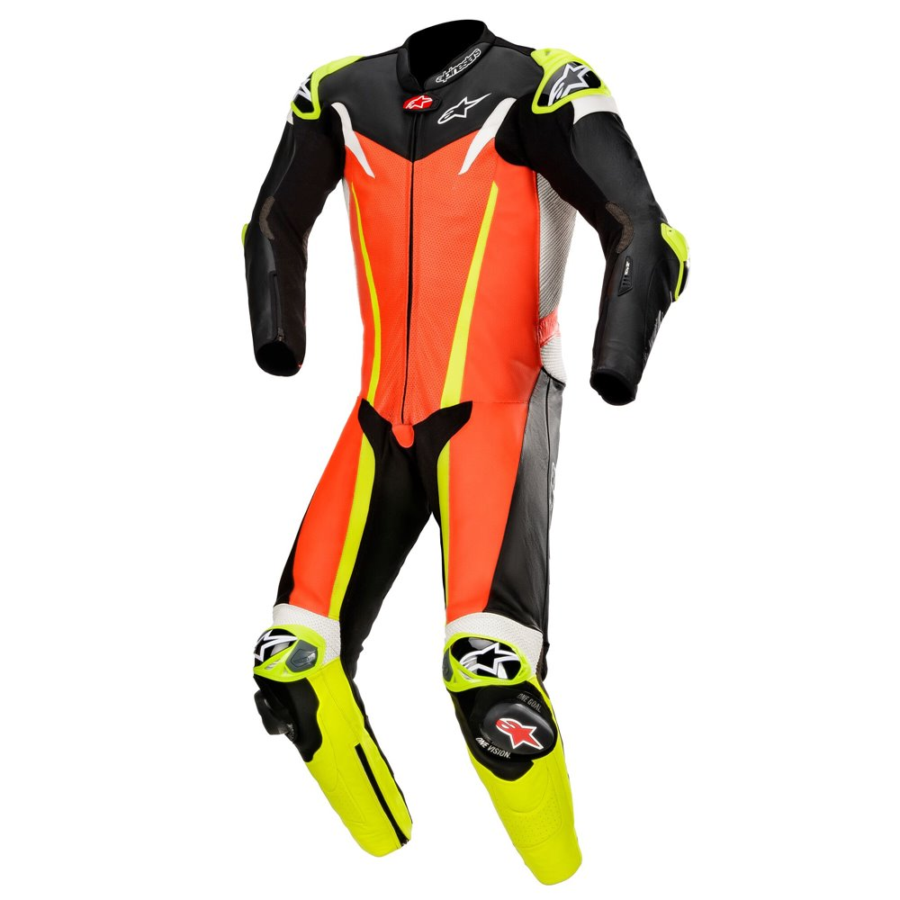 *Alpinestars Leather suit GP TECH v3 TECH AIR Comp Red fluo/Black/Yellow fluo 44