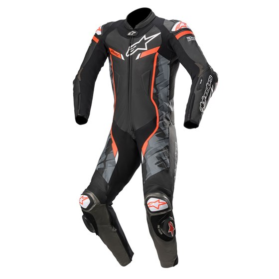 Alpinestars Leather suit GP Pro v2 1 PCS Tech Air Blackcamo/Red fluo 44