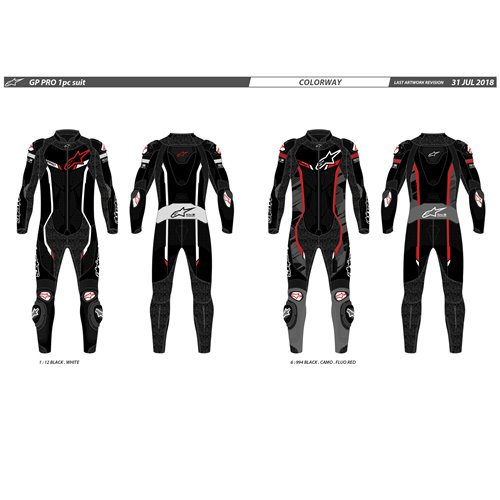 Alpinestars Leather suit GP Pro v2 1 PCS Tech Air Black/White 58