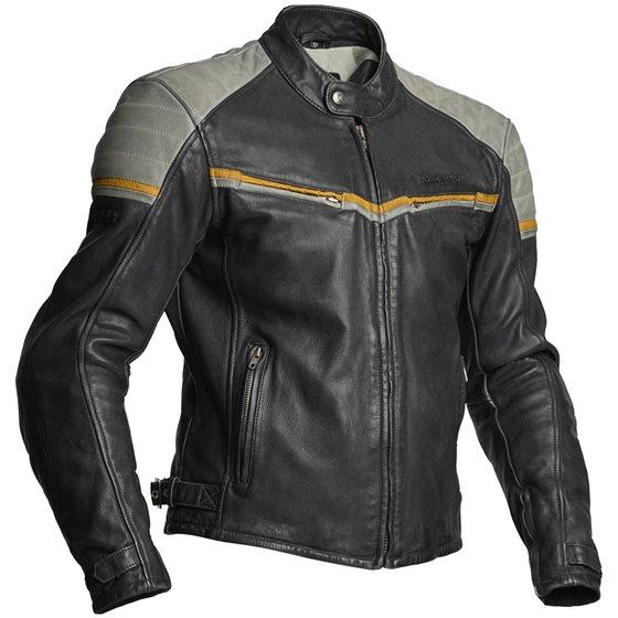Halvarssons Leather jacket Eagle Black/grey 60