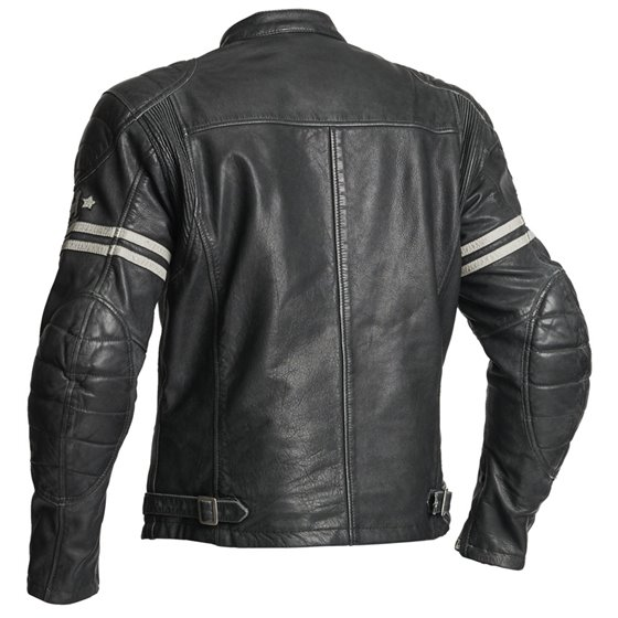 Halvarssons Leather jacket Dresden Black/white 60