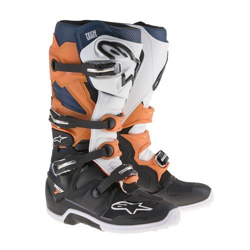 Alpinestars Boot Tech 7 Black/White/Orange/Blue 42 (8)
