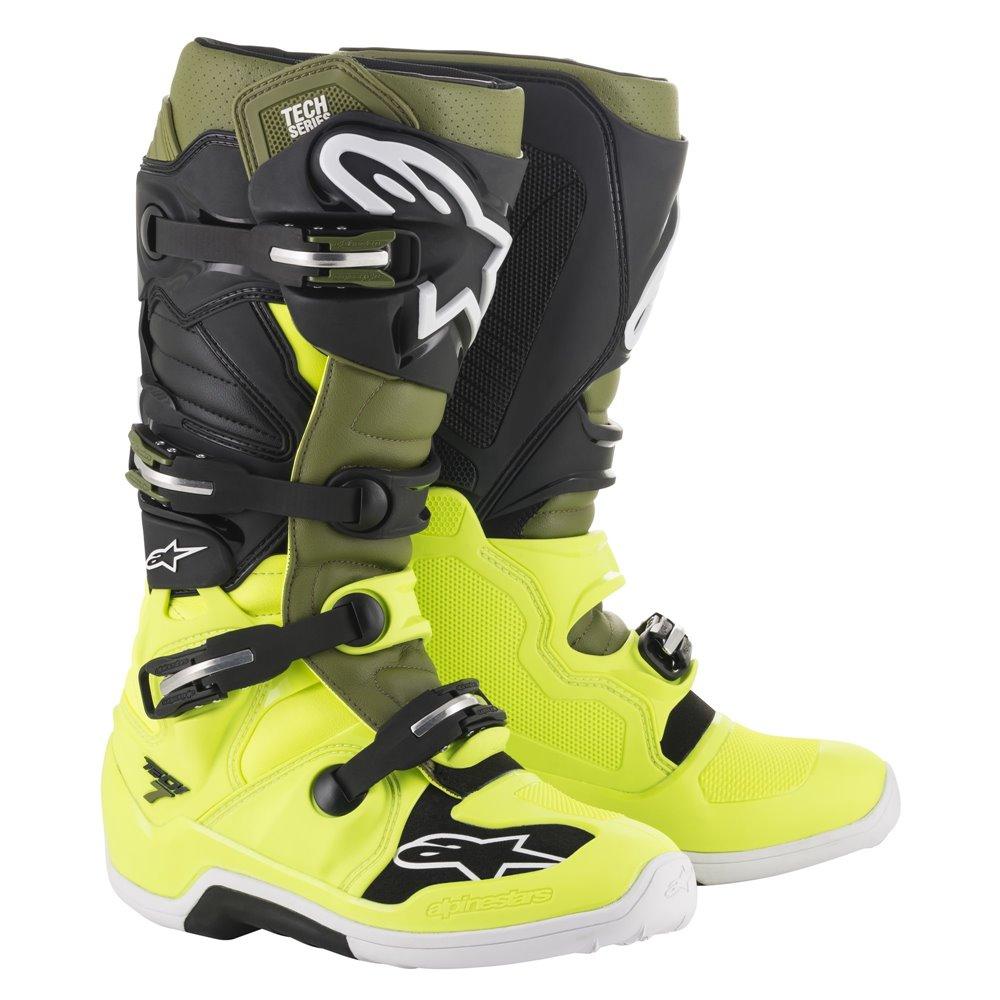 Alpinestars Boot Tech 7 FluoYellow/Military green 45,5 (11)