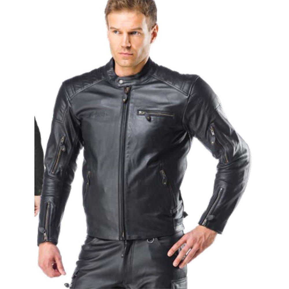 Sweep leather jacket Hudson Black 3XL