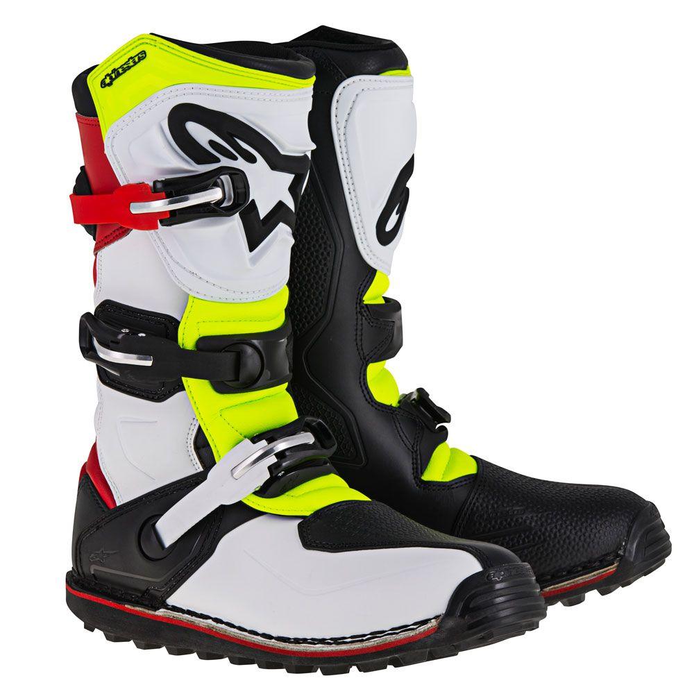 *Alpinestars Boot Tech-T 2017 White/Red/Fl Yellow/Black 47 (12)