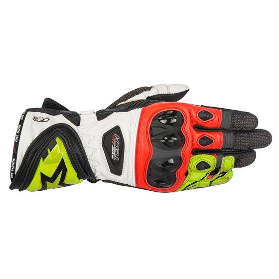 Alpinestars Glove Supertech black/white/Fl. red 2XL