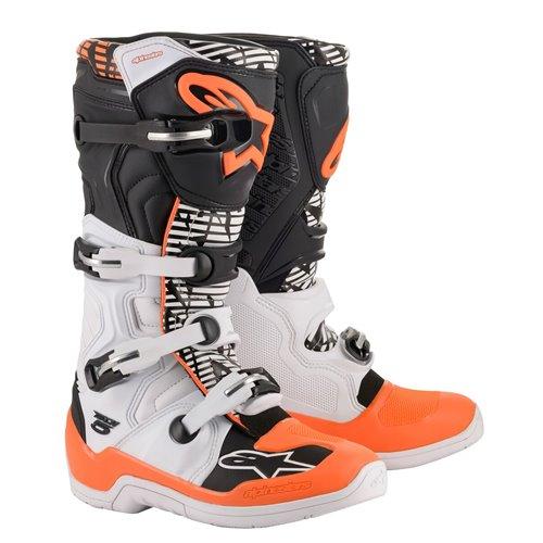 Alpinestars Boot Tech 5 Wht/Blk/Orange Fluo 48