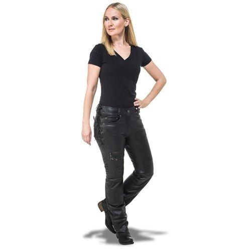 Sweep Leatherpants Black Bella Lady, black 38