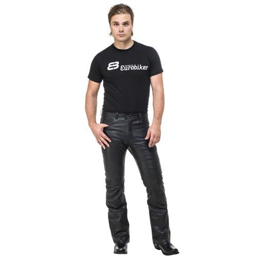 Sweep Leatherpants Bootcut, black 34