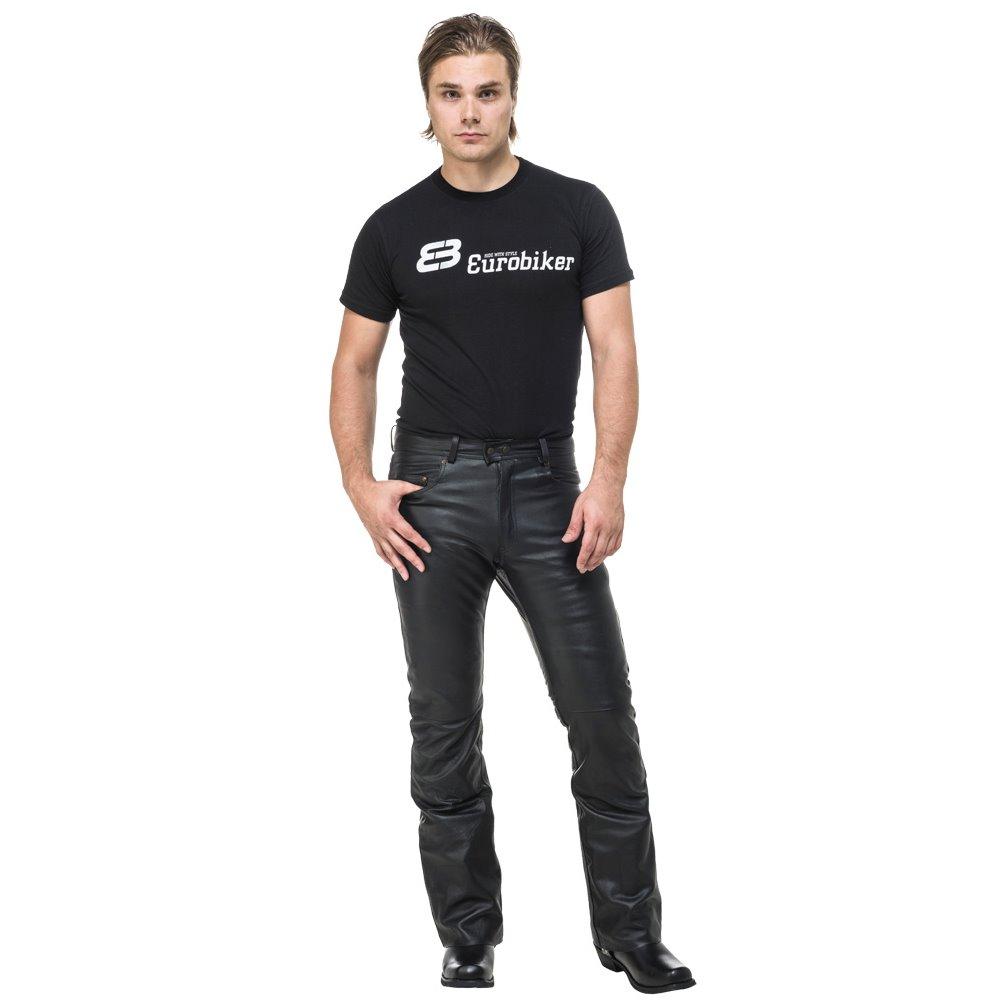 Sweep Leatherpants Bootcut, black 36