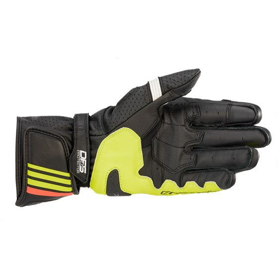 Alpinestars Gloves GP Plus R v2 Black/Yellow/Red Fluo M