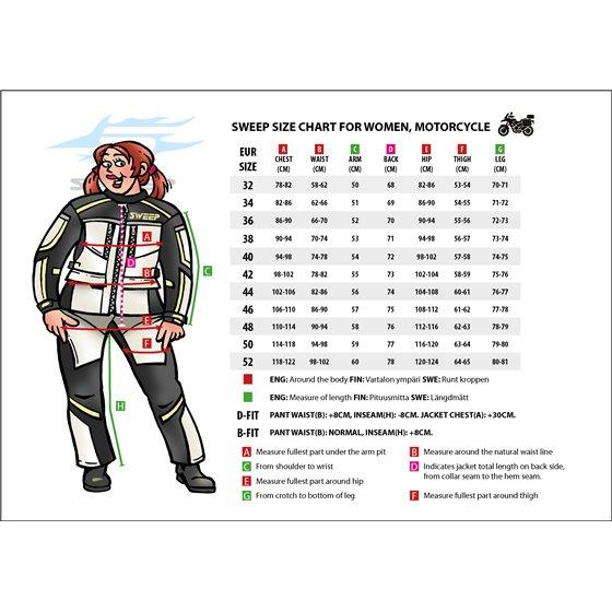 Sweep Textil pants Voyage Waterproof Kort, Black/White 36