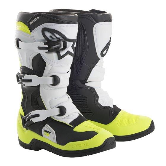 Alpinestars Boot Tech 3s BarnBlack/White/Flou Yellow 29