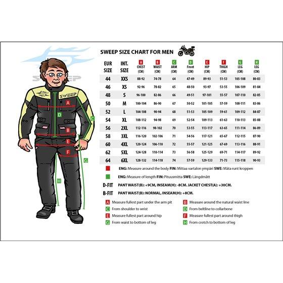 Sweep Textilepants Trooper WP, black/orange M