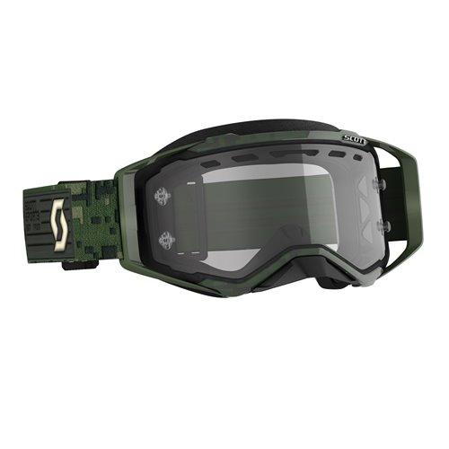 Scott Goggle MX Prospect Enduro kaki green clear