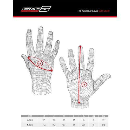 Five glove WFX SKIN WOMAN WP Black/white  XL