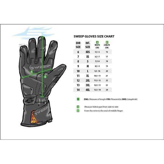 Sweep Glove Adventure Waterproof, Black 2XL