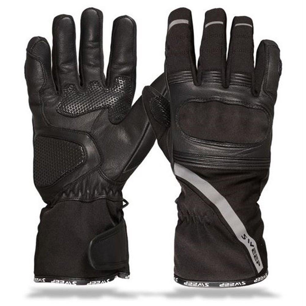 *Sweep Leatherglove Falcon WP, black/fluoyellow  2XL