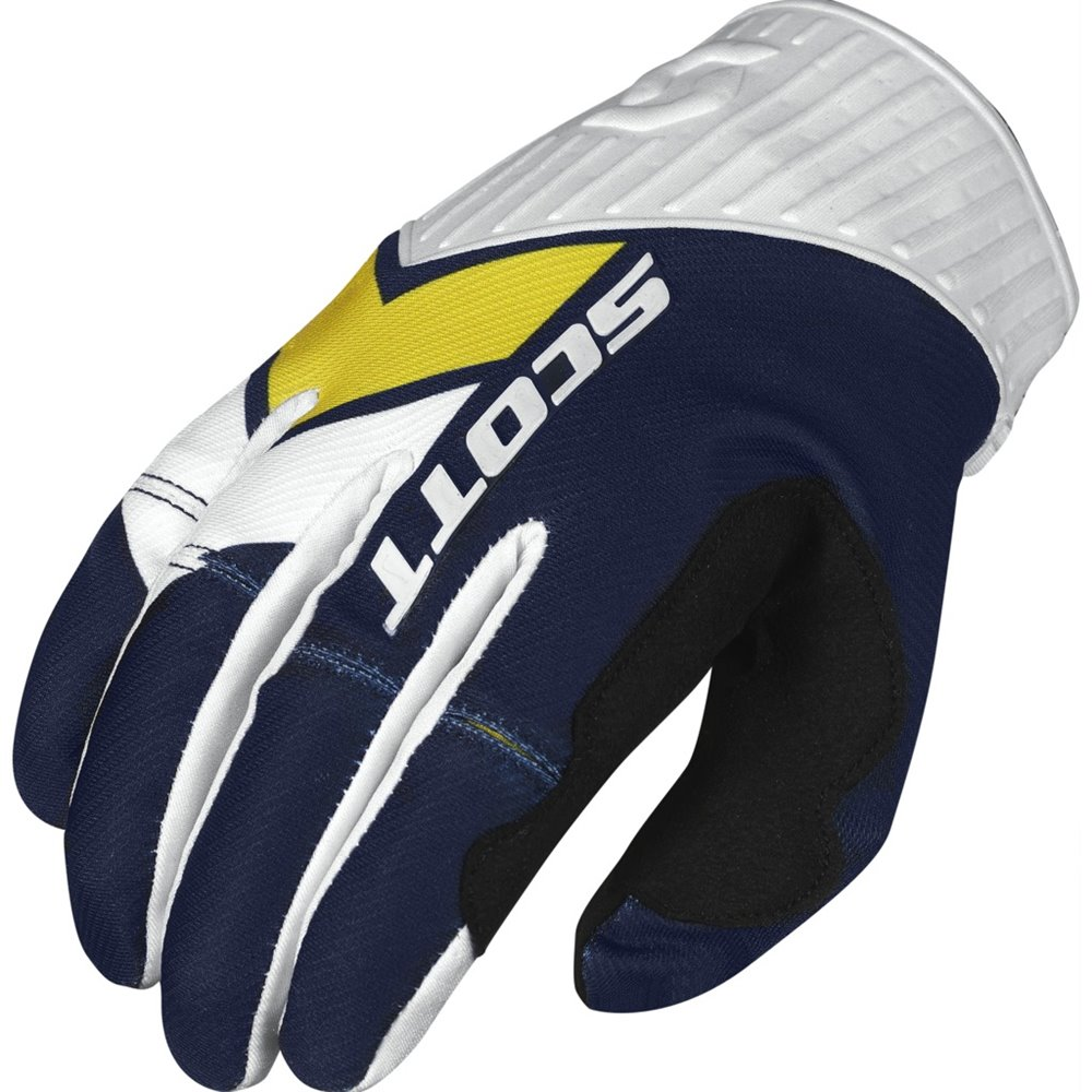 Scott Glove 450 Podium blue/yellow L