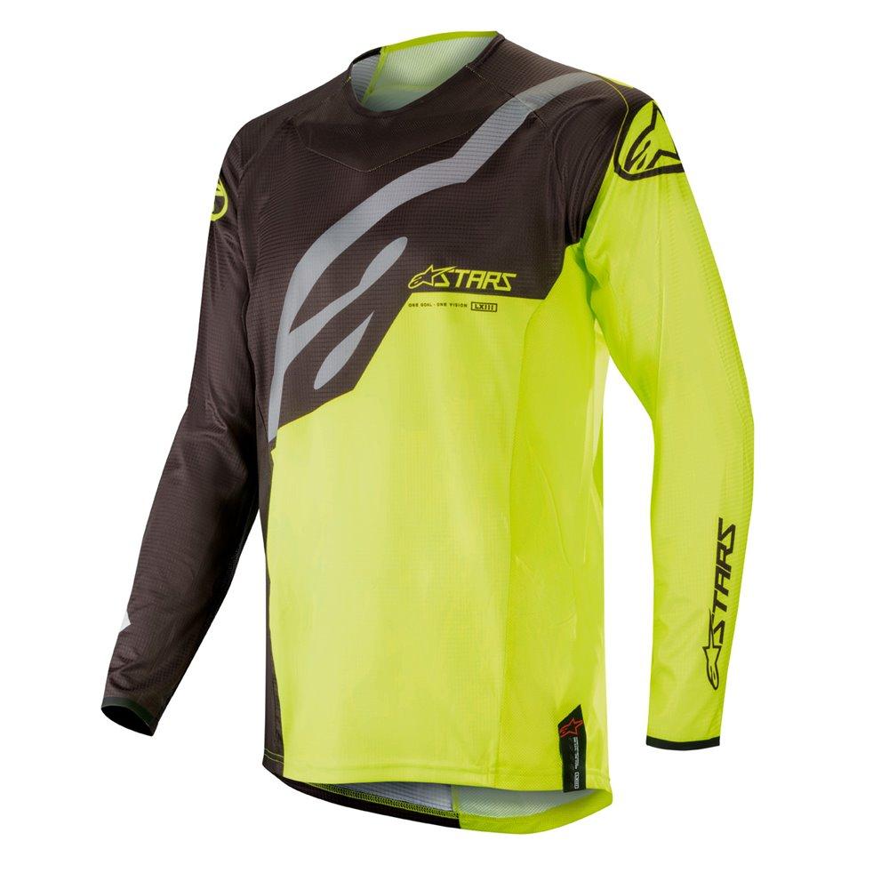 Alpinestars jersey Techstar, black/fl yellow S