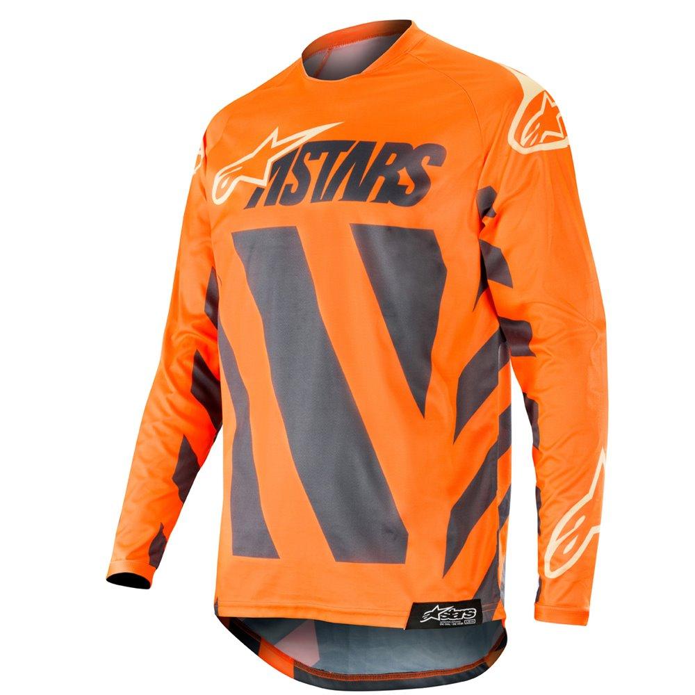 Alpinestars Jersey Racer Braap, antracit/fluo-orange/gray M