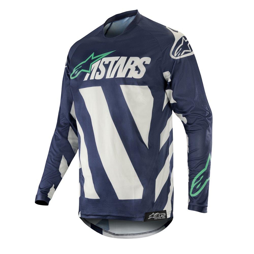 Alpinestars jersey Racer Braap, grey/dark navy/teal XL
