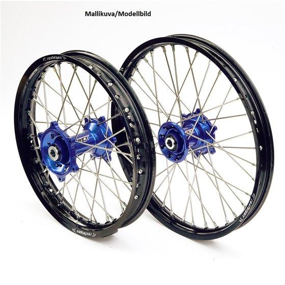 REX WHEELS 18-2,15 TC&FC 16-.. BLACK RIM/BLUE HUB 25MM