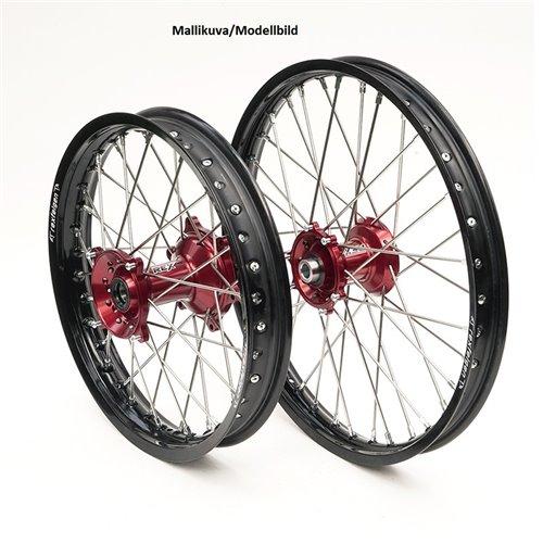 REX WHEELS 21-1,60 RMZ250/RMZ450 05-.. BLACK RIM/RED HUB 22MM
