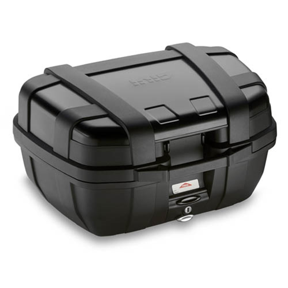 Givi 52 litre blackline top-case black with aluminium finish with top opening