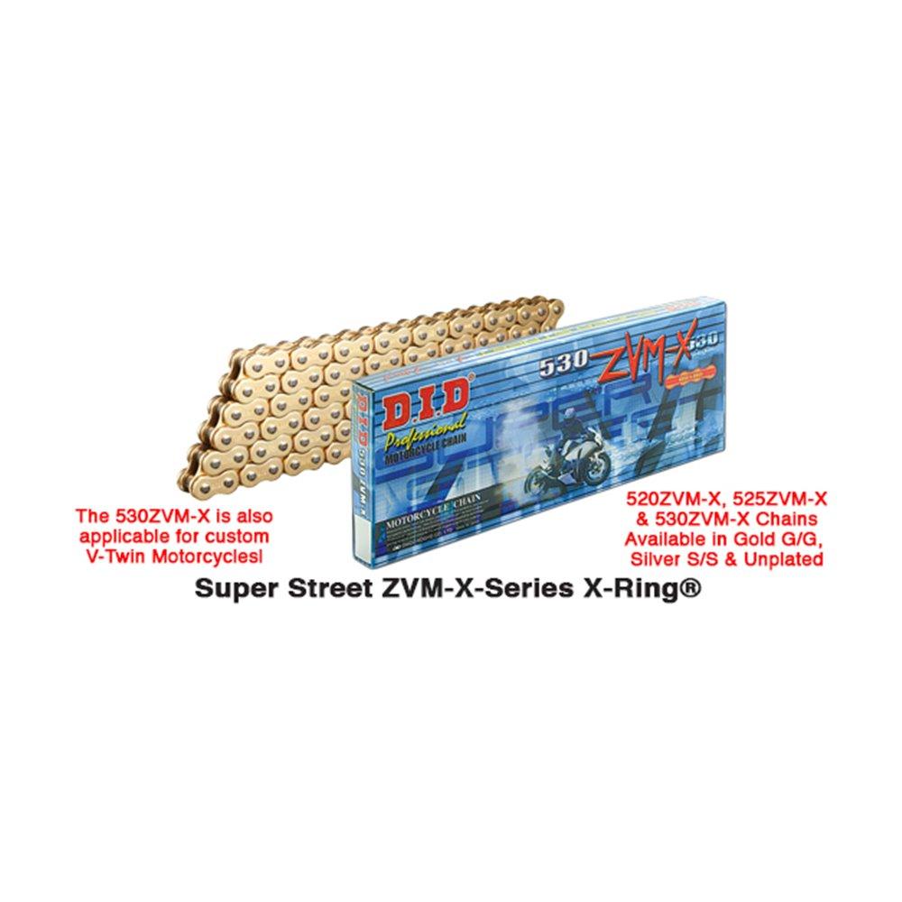 D.I.D 530ZVM-X Chain+Connecting link rivet type (ZJ)
