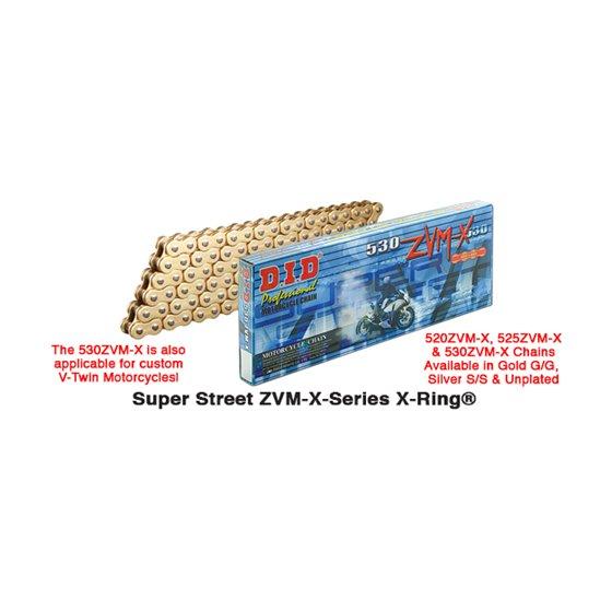 D.I.D 520ZVM-X Chain+Connecting link rivet type (ZJ)