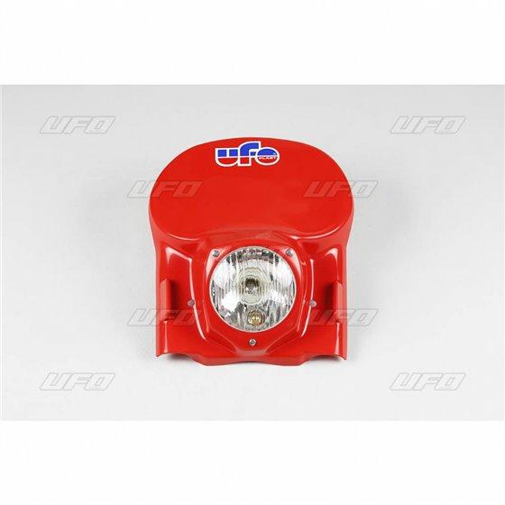 UFO Universal headlight veteran MX/Enduro 78-88 Red