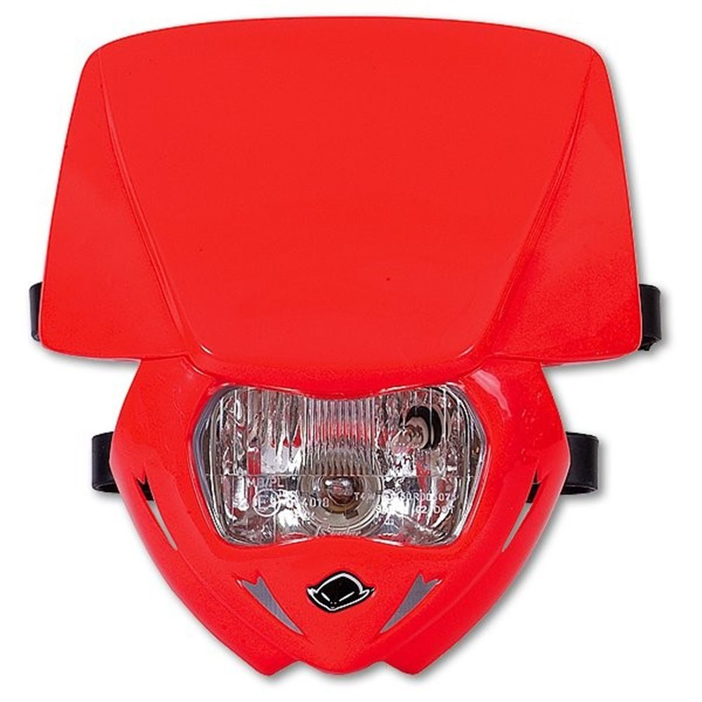 UFO Headlight Panther Red 070 Approved