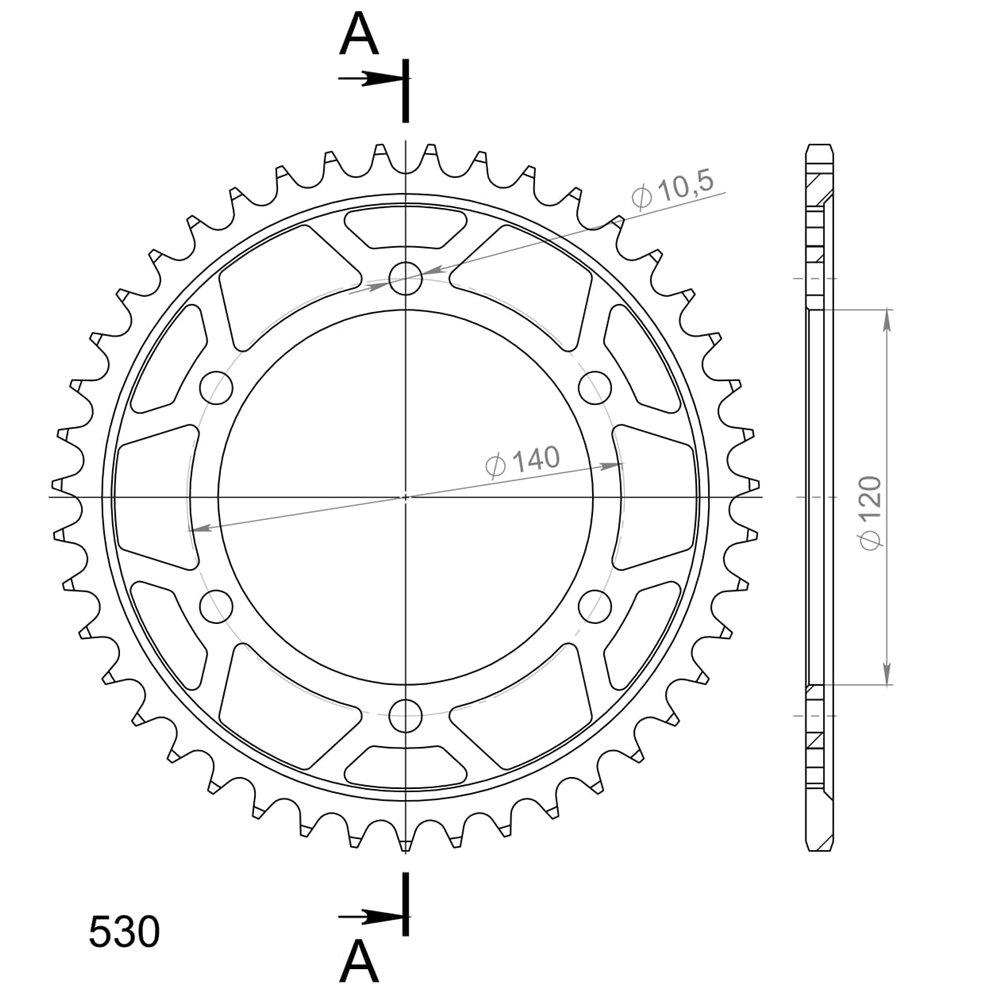 Supersprox / JT Rear sprocket 499.48