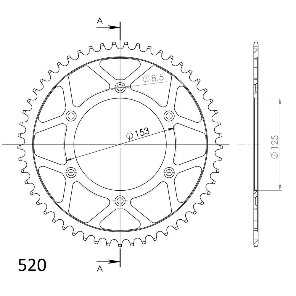 Supersprox / JT Rear sprocket 210.48